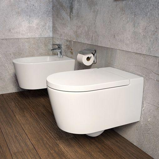 Inspira ROUND окачена порцеланова Rimless тоалетна